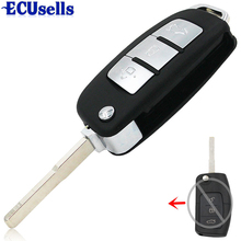 3 Button ModifIed Folding Remote Key Shell for Ford Focus Fiesta C Max Ka Key Case HU101 Blade(China)