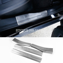 Stainless Inside Door Sill Scuff Plate 4pcs For Benz GLA X156 2014 -2016