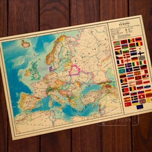 Alternate History Map of Europe WW2 Vintage Retro Classic Poster Decorative Wall Posters Home Decor Gift(China)