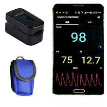 Android mobile Bluetooth 4.0 OLED Fingertip Pulse Oximeter Finger Oximetro pulso Blood Oxygen SpO2 Saturation Monitor(China)