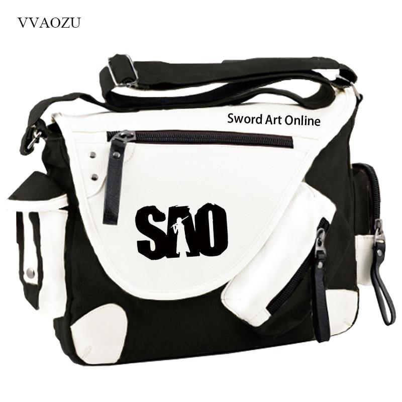 New Sword Art Online Cosplay Bag Kirigaya Kazuto SAO Anime Student Shoulder Bag Travel Laptop Bag Satchel<br>