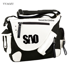 New Sword Art Online Cosplay Bag Kirigaya Kazuto SAO Anime Student Shoulder Bag Travel Laptop Bag Satchel(China)