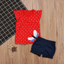 Summer Baby Clothing Set Cotton Baby Girl Clothes Short Sleeve Baby Boy Clothing Set Infant Clothes Set Newborn Clothing Set(China)