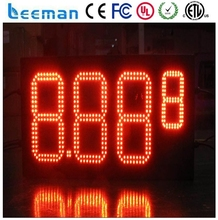 leeman 10inch Hot sale fuel station led digital seven segment 12 inches outdoor gas price sign 8.8.8.8., gas price changer