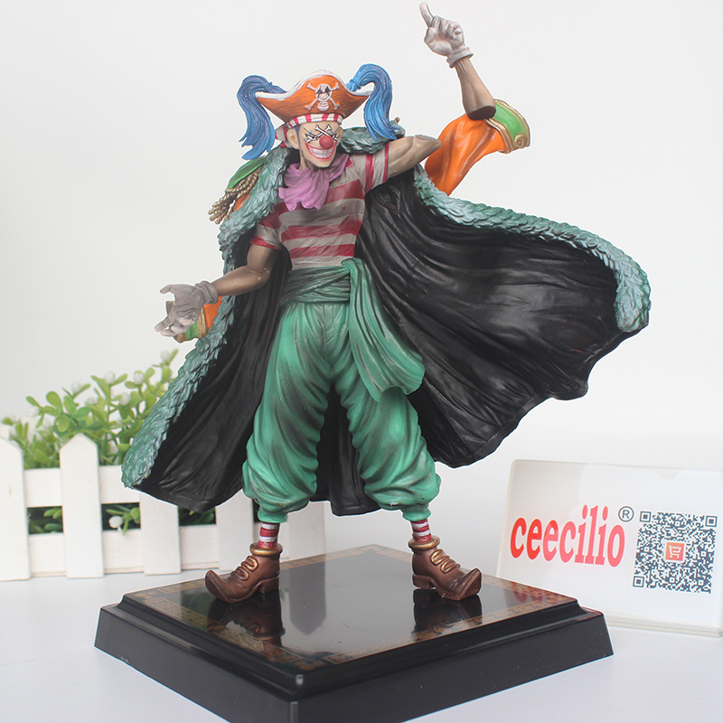 Japanese Anime One Piece Buggy Action Figure Joker pvc Collection Model Toys 24CM<br>