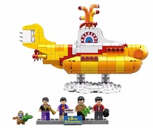 Lepin 21012 553pcs The Beatles John Winston Lennon Paul McCartney Harrison Ringo Starr Yellow Submarine Building Blocks Toys(China)