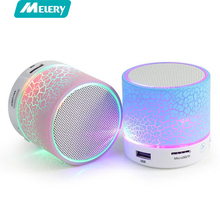 Small Portable Speaker Column Mini LED Bluetooth Speakers A9 Wireless Small Music Audio TF USB FM Light Stereo Sound Speaker