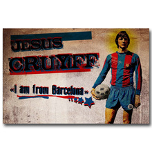 NICOLESHENTING Johan Cruyff Football Legend Art Silk Poster Print 13x20 inches Netherlands Soccer Star Pictures Room Decor 010