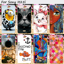 2016 DIY Painted Hard Plastic Cell Phone Covers For Sony Xperia V Lt25i 4.3 inch Cases New Cool Colorful Back Cover Protective