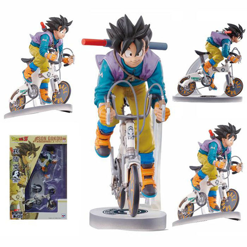 Dragon Ball Z Figures The Monkey King Goku PVC Action Figure Collection Model Toy Monkey Ride Bike Action Figure For Kid #D<br>