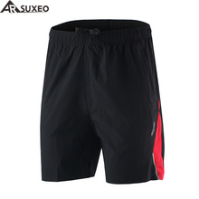ARSUXEO 2017 Mens Sports Running Shorts Training Soccer Tennis Workout GYM Shorts Quick Dry Pockets B162(China)