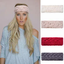 M MISM Girls Fashion Solid Headbands Perfect Qulity Knitted Turban Hair Accessories for Women Stretch Crochet Head Wrap Hairband