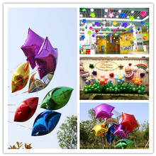 2017 Hot 10inch Wedding Party Decoration Helium Inflable Star balloon Wedding Aluminum Foil Balloon 50Pcs 7ZSH809(China)