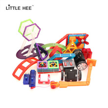 LITTLEHEE MAGNETIC BLOCKS High Quality Magnetic R/C Wheels Single Wheels Led Light Doll Piece Magnetic Accessories Toy Bricks