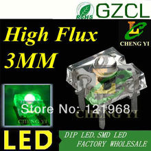 High bright 3mm Green Piranha led Car Decorative Lights 520-530nm 3.0-3.5V(Factory wholesale)(China)