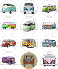 Hippy Bus car glass Snap button Charm Popper for Snap Jewelry good quality picture pendant Gl603 BOBOSGIRL(China)