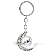Oberhof Bowling keychain new fashion classy casual sports play bowling moon pendant key chain cool bowls fans gift jewelry T475(China)