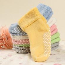 Buy glittery sweet Cotton Warm Baby Socks Autumn Winter Thicken Kids Footwear Sock Newborn Boys Girls Floor Wear Anti Slip Sock for $1.66 in AliExpress store