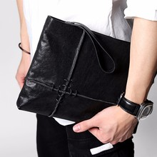 D-park Fashion Casual Style Men's Wallets Genuine Leather Thin Soft Black Long Wallet Men Clutch Bags Card Holder for Men(China)