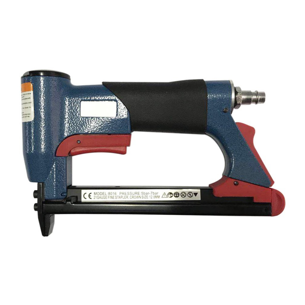 1/2 Fine Crown Nail Stapler Pneumatic Air Stapler Nailer Nail Staple Stapling Gun 4-16mm Woodworking Pneumatic Air Tool NEW<br>