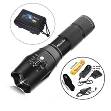 G700 CREE XML T6 LED 2000Lm cree led Torches Zoomable Tactical LED Flashlight Lamp +18650 Battery car charge holster E17/X800