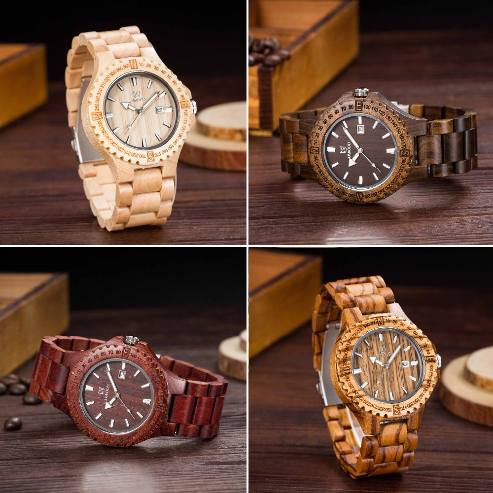 2016 Sandalwood Wood Watch Men Luxury Watches UWOOD Quartz Watch Casual Mens Dress Watches Wooden Wristwatch Mens Hours Montre<br>