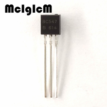 MCIGICM 100pcs BC547 in-line triode transistor TO-92 0.1A 45V NPN Free shipping(China)