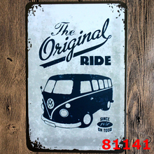 Mike86 ] VW YELLOW BUS POSTER Tin Signs Vintage Wall Art decor OLD Iron Painting K-110 Mix Items