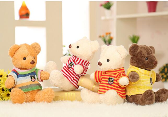 30CM Soft Teddy Bears Plush Toys Stuffed Animals Bear Dolls with Bowtie Kids Toys for Children Birthday Gifts Party Decor<br><br>Aliexpress