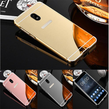 Buy Luxury Mirror Case Samsung Galaxy J5 2017 J530F J530 EU Eurasian Version Metal Aluminum Frame Acrylic PC Hard Back Cover for $2.69 in AliExpress store