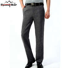 Speed Hiker Mens Pants Formal Business Anti wrinkle Linen Breathable Pants Summer Thin Straight Fathers Long Trousers