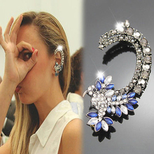 Brilliant quality 1pc Womens Colorful Crystal Iced Out Hummingbird Ear Cuff Ethic Clip Earrings 5CEZ