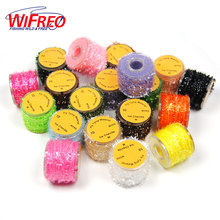 [ 8 Spools ] 10m / reel M Multiple Color Fly Tying Tinsel Chenille Body Material for Streamer Lures Crystal Flash Line Discount