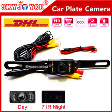 20 X DHL Freeshipping Rear view camera car license plate camera Night vision car camera CCD HD SEAT FR car stylingaccessories