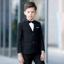2016 new arrival fashion baby boys kids blazers boy suit for weddings prom formal black/navy blue dress wedding boy suits 5pcs