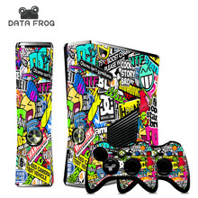 NEW STICKER BOMB Stickers Cover for Microsoft XBOX 360 Slim Decals Console and 2 Games Free Controller Skins - stickerbomb(China)