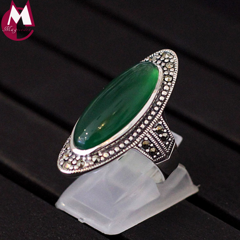 100/% Natural Chalcedony Jade Gem Ring Fine Jewelry Lady Rings With Gift Box 2-A