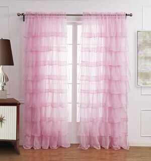 140x295cm Custom Made Sheer Curtain Lace Tulle Curtain for Children's Bedroom Semi-shade Window Blinds Cortinas