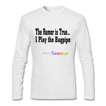 Boys Pre-Cotton The Rumor Is True I Play The Bagpipe T Shirt Pp 3d Printed Long Sleeved Tee Shirt Hombre Funny Tees(China)