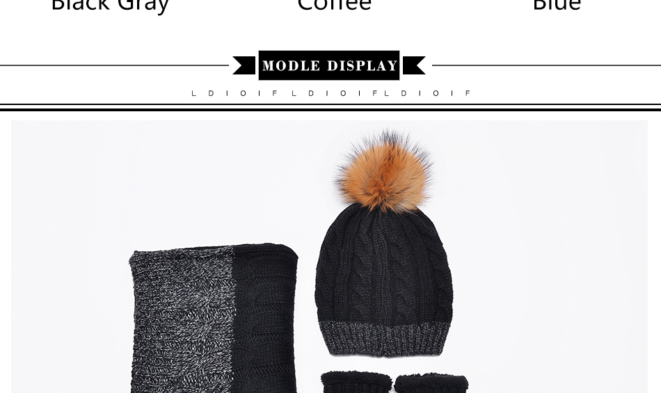 hat and scarf Glove Set TZ007 PC (4)