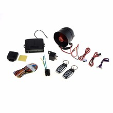 1-Way Car Vehicle Alarm Protection Security System Keyless Entry Siren +2 Remote Car Alarms & Security(China)