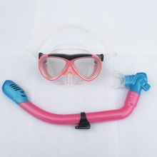 Kids Diving Mask Fully Dry Diving Snorkel Underwater Anti Fog Snorkeling Mask Diving Equipment(China)