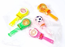 24 pcs 7cm Mini Sound Clappers Football Basketball Socceer Goody Birthday party Favor toys Pinata Carnivals Clicker Sound Maker
