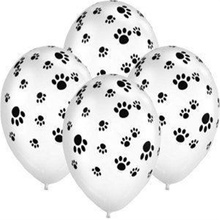20Pcs Party Supplies Patrolling Dog Paws Party Balloons Latex Balloons Birthday Party Balloon Decoration Toys Paw Print Balloons