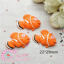 Wholesale 50pcs Clown Fish Nemo Resin Fish Resin Cabochon Flat Back Scrapbooking crafts