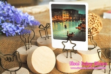 10PCS Multi Design Wood Iron Wire Memo Clip Set Card holder Wood Craft Figurines Miniatures