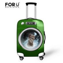 2017 New Fridge Dog Travel Accessories Men's Travel Bag Cover Animal Teenager Boys Cover To Suitcase For 18''-30'' inch Cases(China)