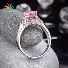 Peacock Star Flower 925 Sterling Silver Wedding Promise Anniversary Ring 1.25 Ct Fancy Pink Stone Jewelry CFR8258(Hong Kong)