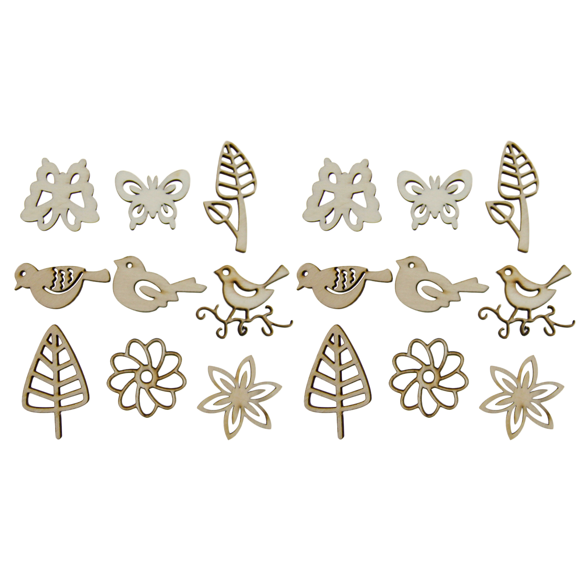 30pcs x Butterfly Self Adhesive Wooden Craft Butterflies Embellishments
