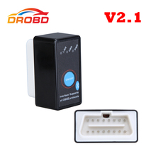 Diagnostic Tool Auto Code Reader Super Mini ELM327 V2.1 ELM 327 Bluetooth OBD-II OBD OBD2 Scanner with Power Switch(China)